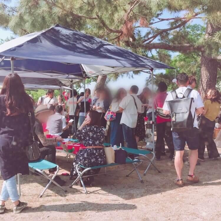 大阪のお花見BBQ写真2
